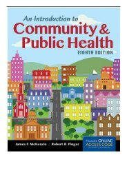 PDF Download An Introduction to Community  Public Health Free eBook