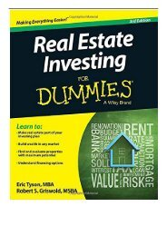 Best PDF Real Estate Investing For Dummies Full eBook