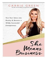 Best PDF She Means Business Turn Your Ideas Into Reality and Become a Wildly Successful Entrepreneur