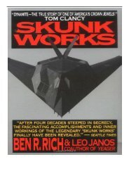 Best PDF Skunk Works a Personal Memoir of My Years at Lockheed Full Books