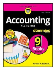 eBook Accounting All-in-One For Dummies with Online Practice Free eBook