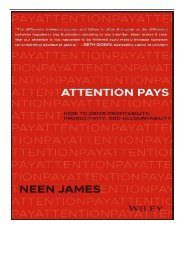 eBook Attention Pays How to Drive Profitability Productivity and Accountability Free online