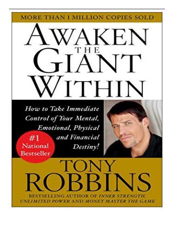 eBook Awaken the Giant within How to Take Immediate Control of Your Mental Physical and Emotional Self