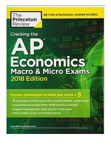 eBook Cracking the AP Economics Macro and Micro Exams 2018 Edition College Test Prep Free online