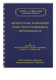 eBook Effective Phrases for Performance Appraisals A Guide to Successful Evaluations Free online