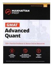 eBook GMAT Advanced Quant Manhattan Prep GMAT Strategy Guides Free eBook