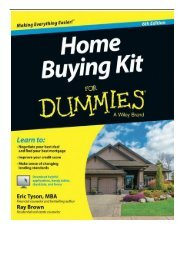 eBook Home Buying Kit FD 6E For Dummies Free eBook