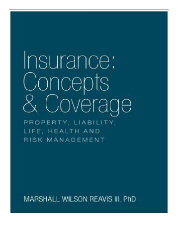 eBook Insurance Concepts  Coverage Free books