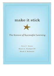 eBook Make It Stick The Science of Successful Learning Free books