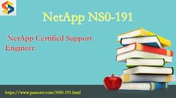 NetApp NCSE NS0-191 dumps pdf