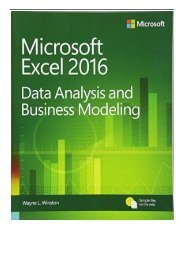 eBook Microsoft Excel Data Analysis and Business Modeling Free books