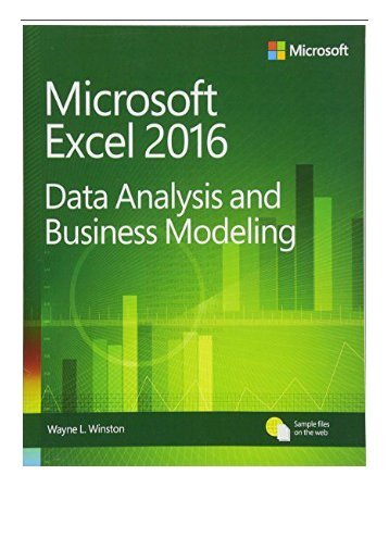 pdf download microsoft excel data analysis and business modeling