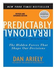 eBook Predictably Irrational Revised and Expanded Edition The Hidden Forces That Shape Our Decisions