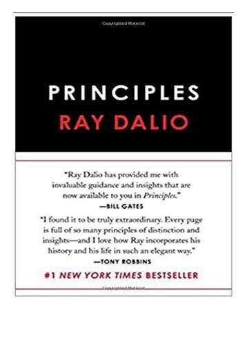 eBook Principles Life and Work Free online