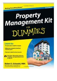 eBook Property Management Kit For Dummies Free online