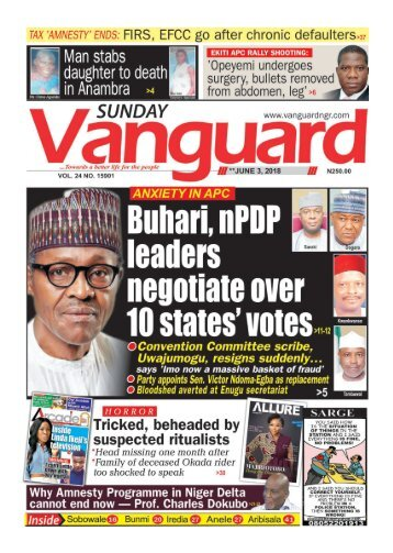 03062018 - ANXIETY IN APC : Buhari, nPDP leaders negotiae over 10 state's votes