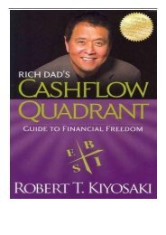 eBook Rich Dad's CASHFLOW Quadrant Rich Dad's Guide to Financial Freedom Free books