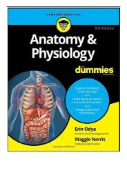 [PDF] Anatomy  Physiology for Dummies 3rd Edition For Dummies Lifestyle  Full Ebook