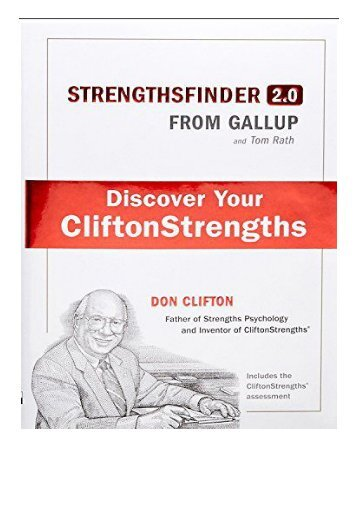 eBook StrengthsFinder 2.0 A New and Upgraded Edition of the Online Test from Gallup's Now Discover Your
