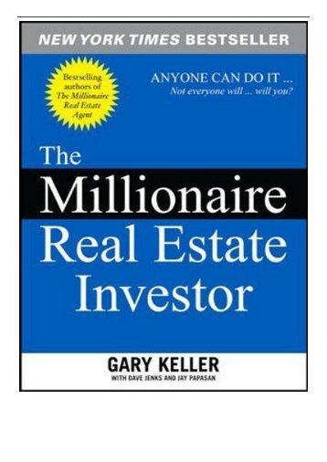 eBook The Millionaire Real Estate Investor Free online