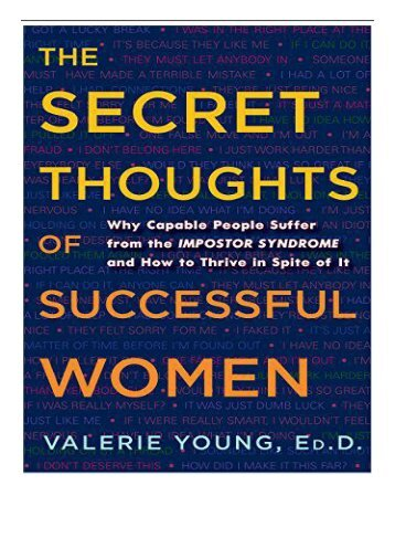 eBook The Secret Thoughts of Successful Women Why Capable People Suffer from the Impostor Syndrome and