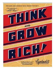 eBook Think and Grow Rich Official Publication of the Napoleon Hill Foundation Free books