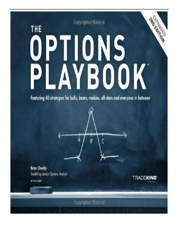 eBook Title The Options Playbook Expanded 2nd Edition Featurin Free online