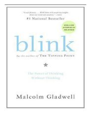 PDF Download Blink The Power of Thinking Without Thinking Free online