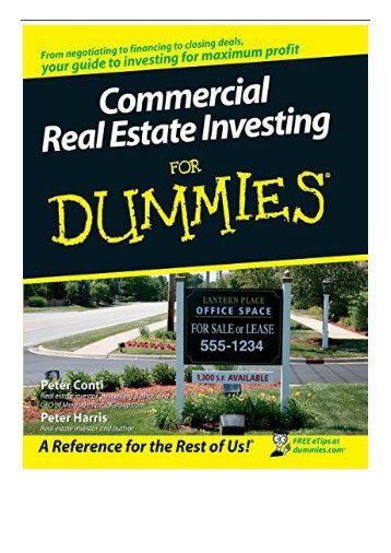PDF Download Commercial Real Estate Investing for Dummies Free eBook