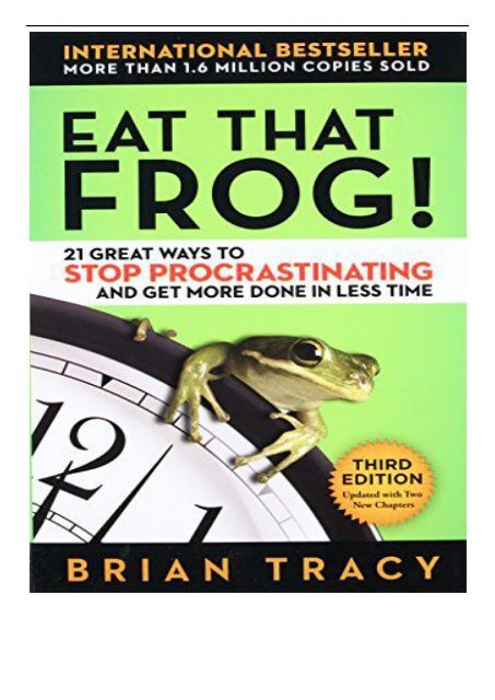 Download pdf eat that frog! The workbook.