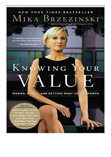 PDF Download Knowing Your Value Women Money and Getting What You're Worth Free books