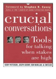 [PDF] Download Crucial Conversations Tools for Talking When Stakes are High Full Books