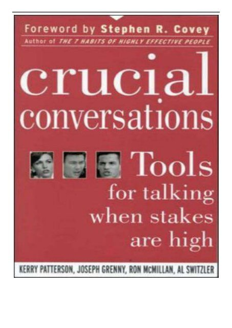 Crucial Conversations Tools For Talking Pdf