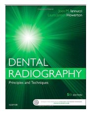 [PDF] Download Dental Radiography Principles and Techniques 5e Full ePub