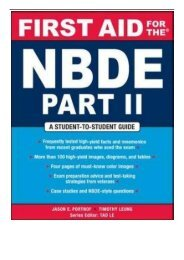 [PDF] Download First Aid for the NBDE Part II Pt. 2 First Aid Series Full ePub