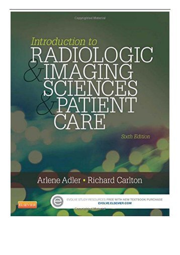 [PDF] Download Introduction to Radiologic and Imaging Sciences and Patient Care 6e Full Books