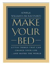 [PDF] Download Make Your Bed Little Things That Can Change Your Life. and Maybe the World Full ePub