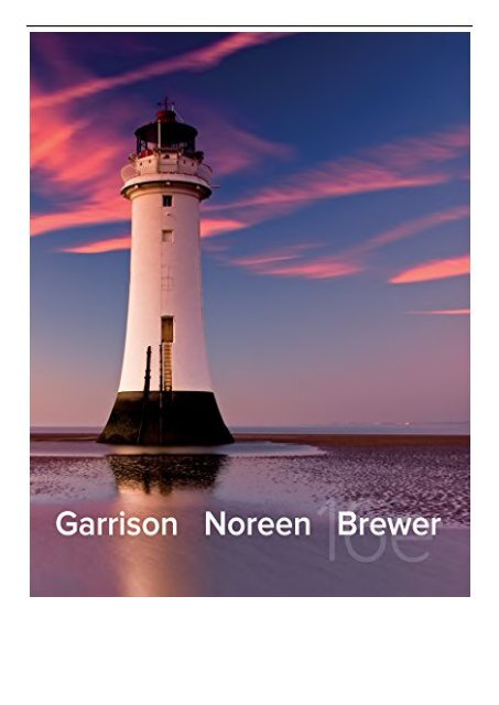 Garrison pdf 15th edition accounting managerial
