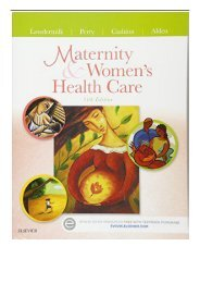 [PDF] Maternity and Women's Health Care 11e Maternity  Women's Health Care Full Online