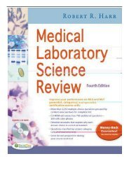 [PDF] Medical Laboratory Science Review 4e Full ePub