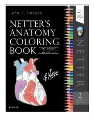 [PDF] Netter's Anatomy Coloring Book Updated Edition 2e Netter Basic Science Full Online