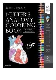 [PDF] Netter's Anatomy Coloring Book Updated Edition 2e Netter Basic Science Full Online