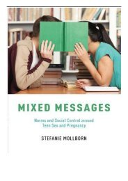 [PDF] Mixed Messages Norms and Social Control around Teen Sex and Pregnancy Full pages