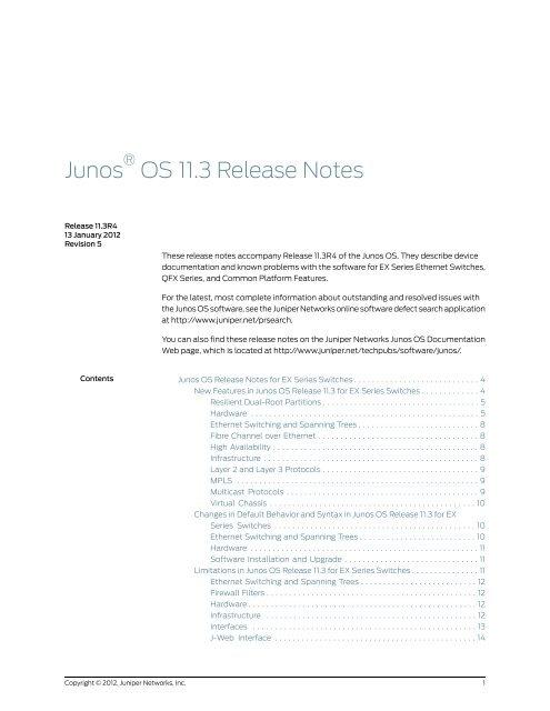 Junos OS 11 3 Software