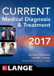 CURRENT Medical Diagnosis and Treatment 2017 (Lange) 56th Edition
