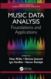 Music Data Analysis Foundations and Applications