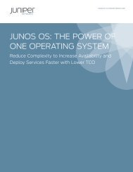 Junos OS: The Power of One Operating System - Arrow ECS