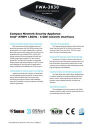 6 GbE network interfaces FWA-3030 - OSNet.eu