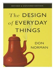 The Design of Everyday Things (Revised and Expanded Edition)