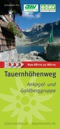 Ankogel- und Goldberggruppe - Deutscher Alpenverein